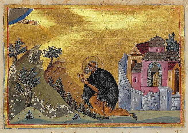 File:John the Silent of St. Sabbas' Monastery (Menologion of Basil II).jpg