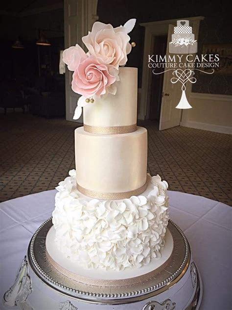 Whimsical roses lustre ivory peach ruffles   wedding dummy