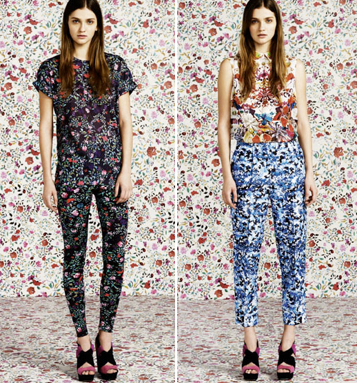 MARY KATRANTZOU FOR TOPSHOP MARY K PRINT DRESSES PANTS FLORALS BOWL SKINNY MIXED PRINTS 2