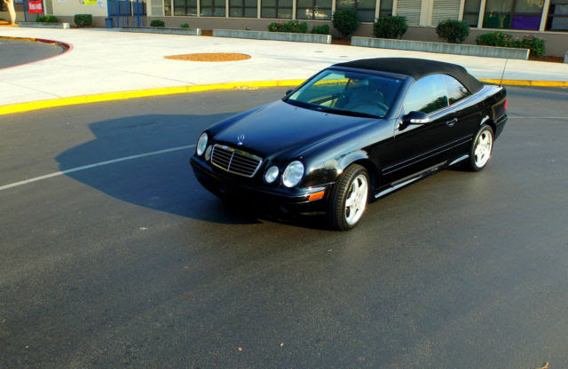 2003 Mercedes CLK 430 convertible black California car
