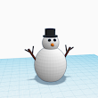 PenguinTutor - TinkerCAD 3D Snowman for 3D printing G-Scale model railway