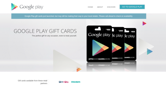 Google Play Gift Cards Go Live In South Africa