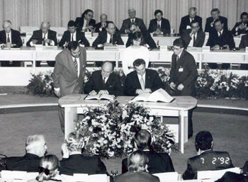 Masstricht treaty signing