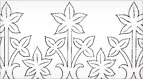 Free Hand Embroidery Pattern: Leafy Border