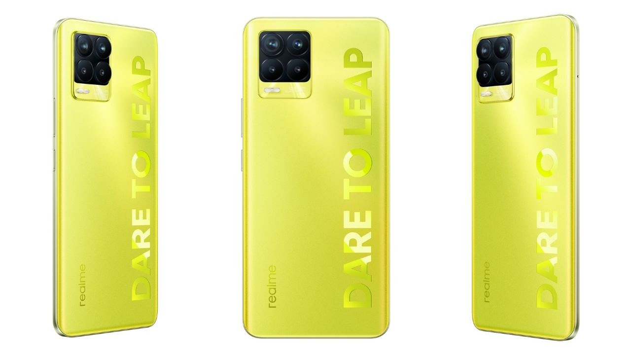Realme 8 Pro Illuminating Yellow colour variant
