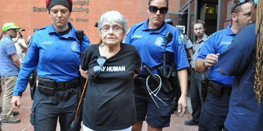 90-Year-Old Holocaust Survivor Arrested During Ferguson Protest
