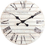 FirsTime Shiplap Wall Clock