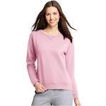 Hanes Comfort Soft Eco Smart Women's Crewneck Sweatshirt, Pale Pink