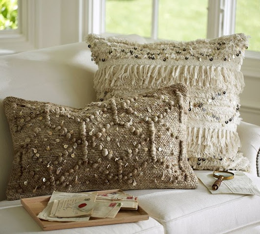 Moroccan Wedding Blanket Pillow Covers - Eclectic - Decorative Pillows - Sacramento - by Pottery Barn