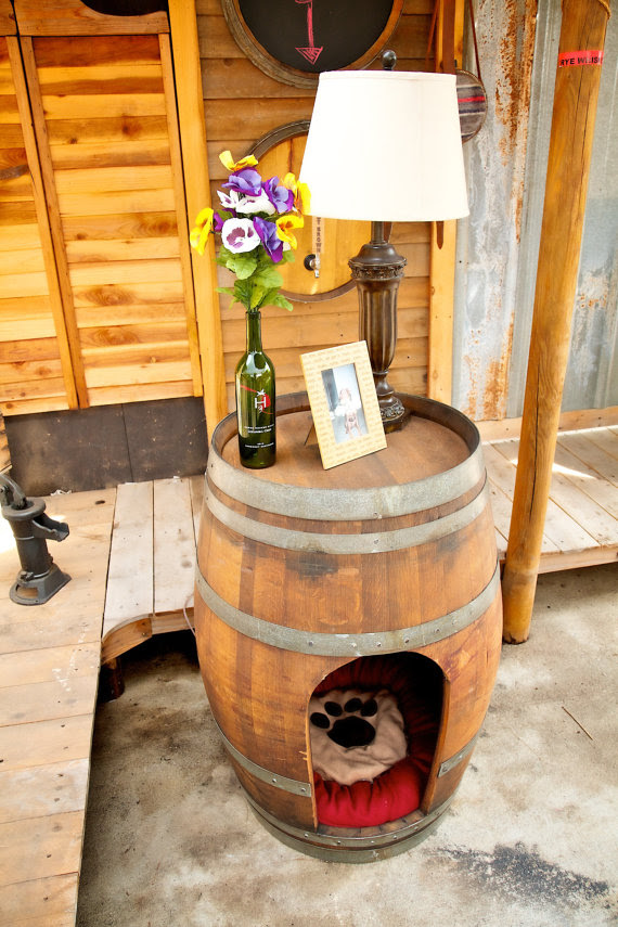 Pet House Made From Whiskey Barrels Slash Pets