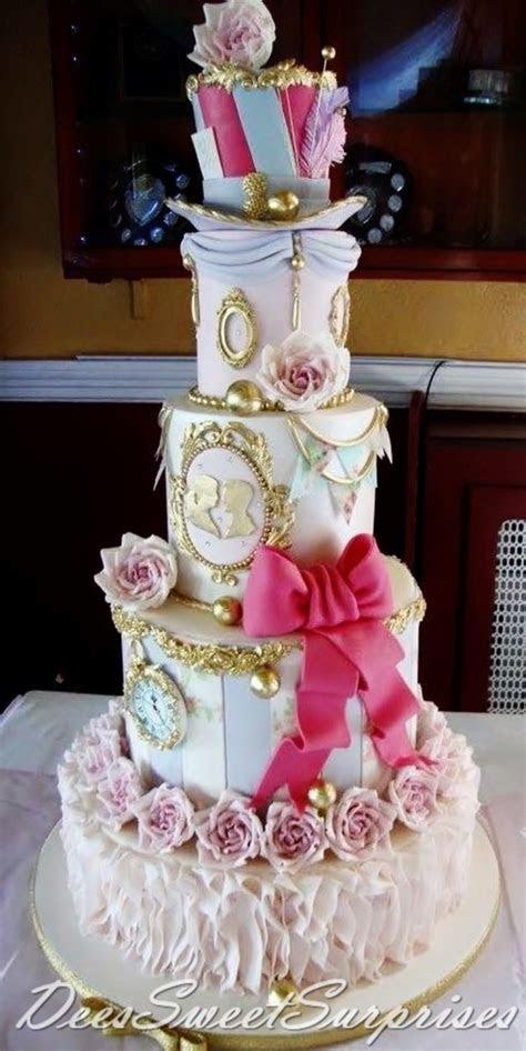 Mad Hatter Themed Wedding Cake   CakeCentral.com