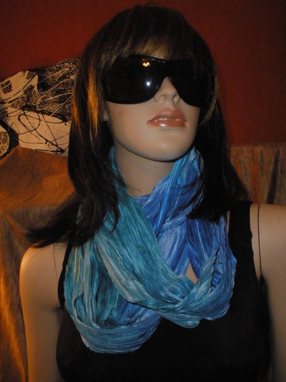 Fun Wearing Shredded Wrap Scarf Necklace