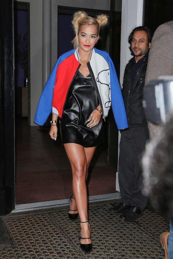 Rita Ora gets an early start on Saturday morning in New York