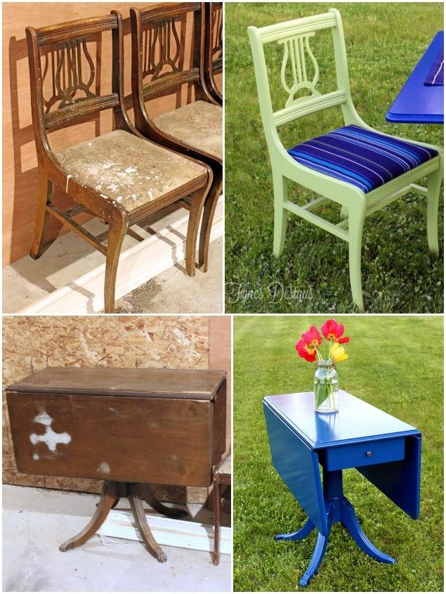 Painted Outdoor Dining Set - FYNES DESIGNS   FYNES DESIGNS