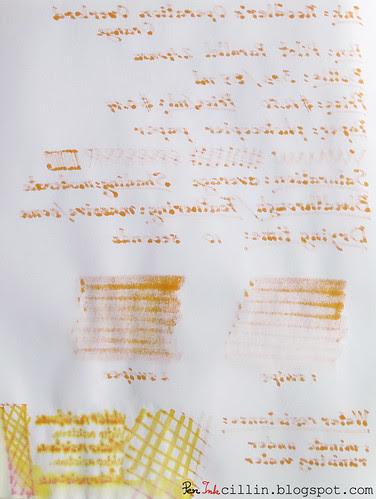Noodler's Operation Overlord Orange bleedthrough photocopier