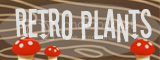 Retro Plants Blog Bar Wood Grain Mushroom