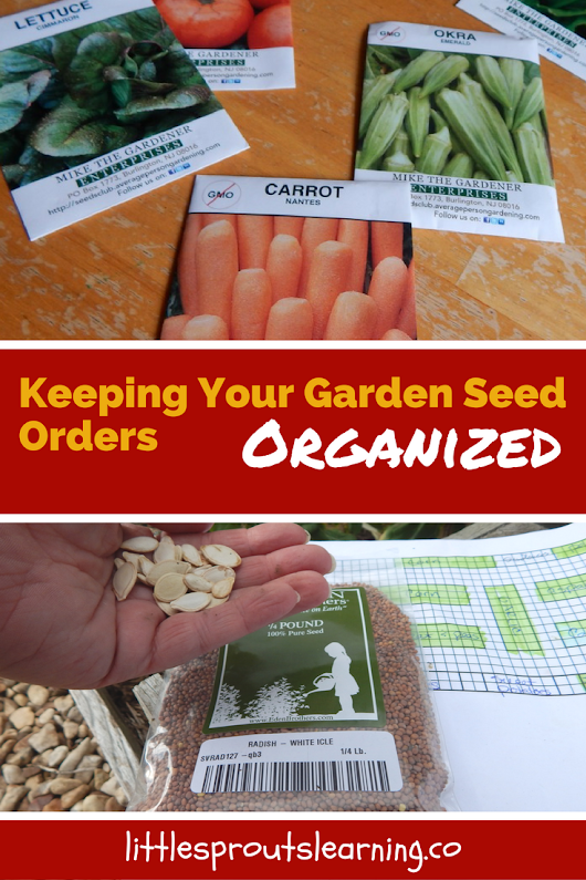 Ordering Seeds, Stay Organized - Little Sprouts Learning