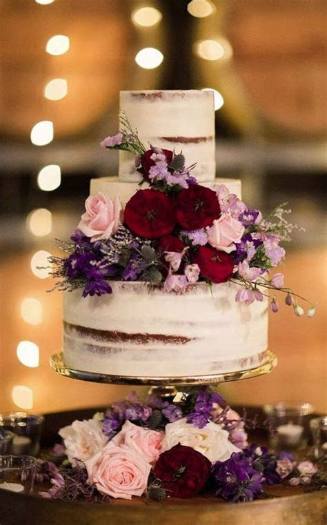 Top 20 Burgundy Wedding Cakes You'll Love   Deer Pearl Flowers