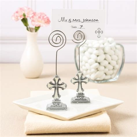 Cross Place Card Holders, Cross Photo Holders, Decorative