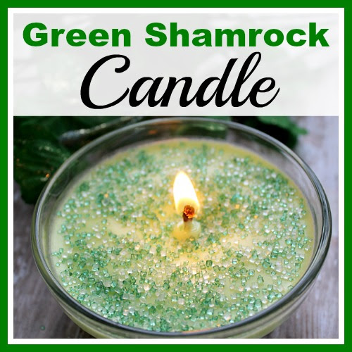 DIY Green Shamrock Candle- Easy Homemade Soy Candle