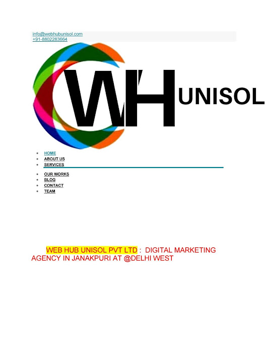 Web hub unisol pvt ltd, Near Janakpuri Delhi West