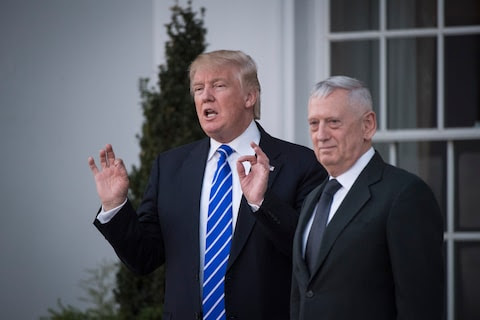 Trump has chosen retired Marine Gen. James Mattis for secretary of defense