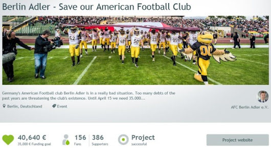 Football e crowdfunding: a lezione dai Berlin Adler | The Growth of a Game
