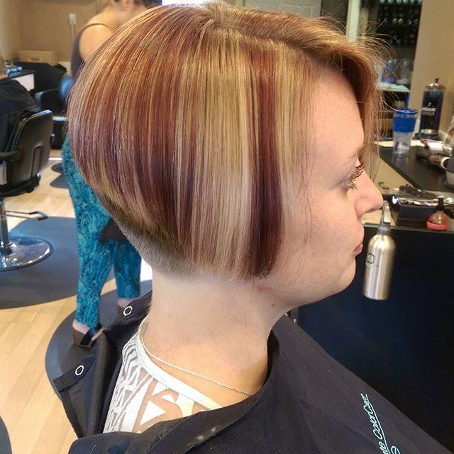 Short Hairstyles Stacked Cut Umpama X