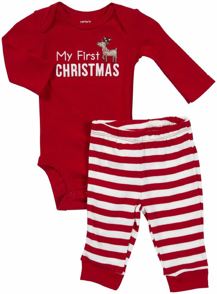 Babys First Christmas Outfit Ebay