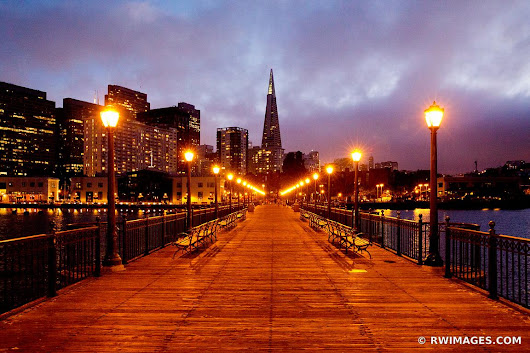 Photo Print of PIER 7 AT NIGHT SAN FRANCISCO NIGHT COLOR Print Framed Picture Fine Art Photography Large Print Wall Decor Art For Sale Stock Image Photo Photograph High Resolution Digital Download Aluminum Metal Acrylic Canvas Framed Photo Print Buy Photo by Robert Wojtowicz Fine Art Photographer