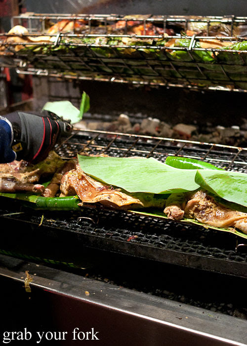 Banana leaf chicken at Hai Au Lang Nuong Canley Vale