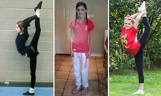 Cheerleading saved my life: Anorexic teenager whose weight plummeted to 5st makes remarkable recovery