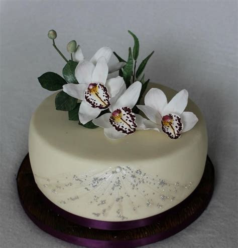 Birthday cake with orchids by Anka   Cakes & Cake