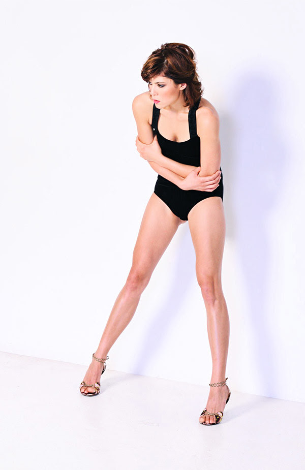 Body Suit, Gold high Heels, Studio Fashion Photography