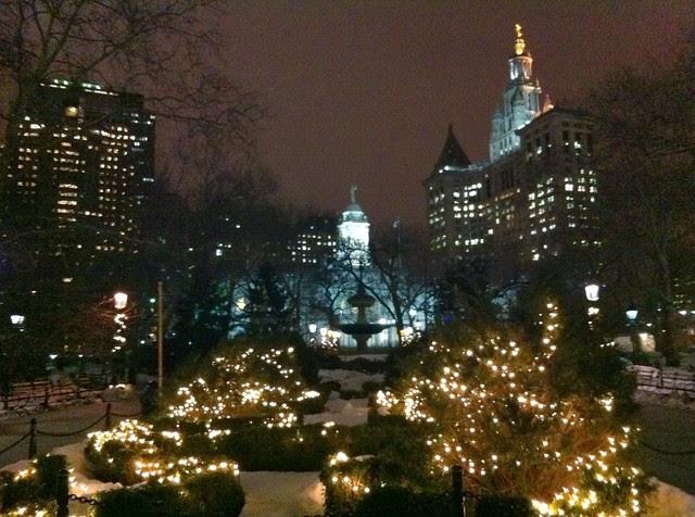 Day 40 City Hall Park at night