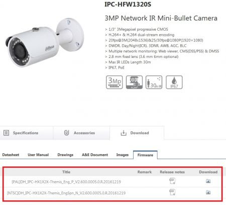 ck   :: Firmware-Upgrade of a Dahua IPC-HFW1320S network camera ::