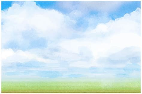 Vector Drawing Ink Sky Background Template, Vector