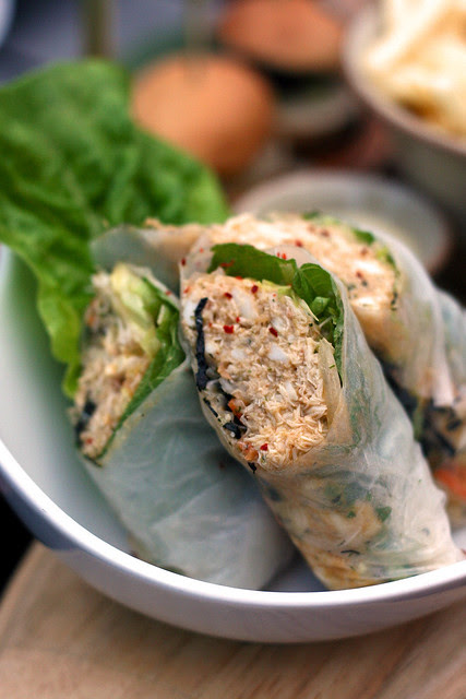 Lump Crabmeat Summer Rolls with Yuzu Mayo
