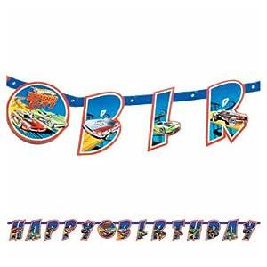 Amazon.com: Hot Wheels 'Speed City' Happy Birthday Banner ...