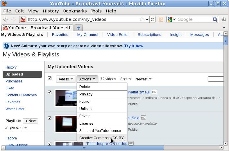 youtube cc license