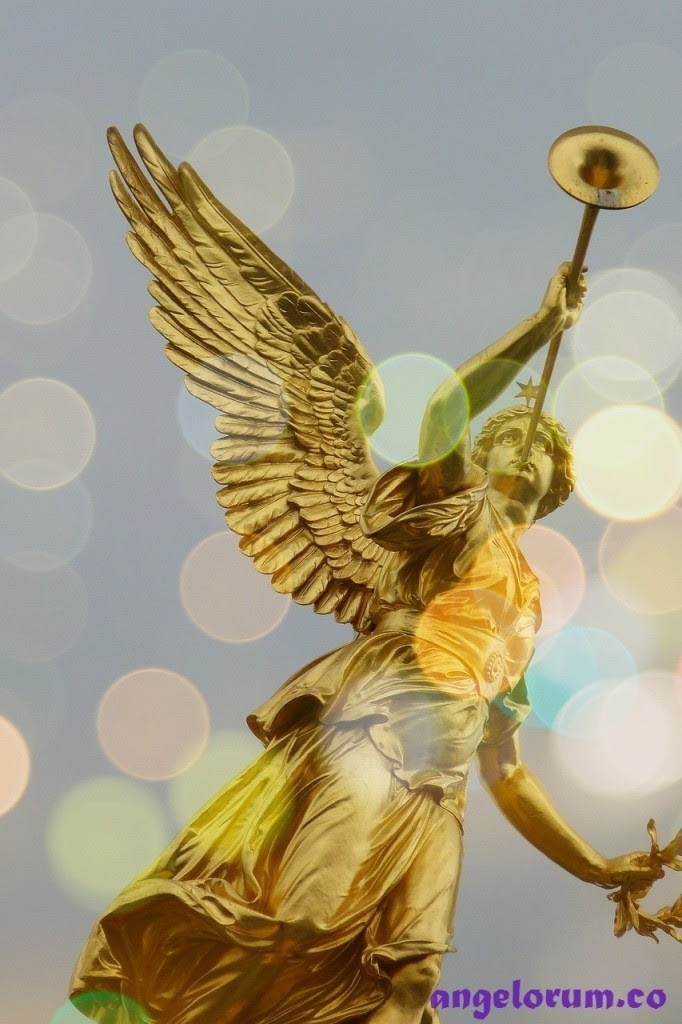 angel messenger with trumpet