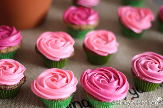 Easy Rose Cupcake Bouquet In A Pot Roxy S Kitchen