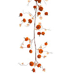 "Set of 2 Velvet Pumpkin Garland 54"" by Christmas Central"