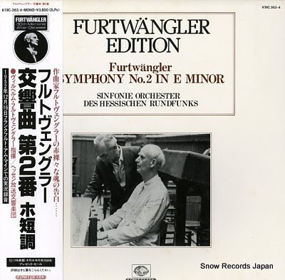 FURTWANGLER, WILHELM furtwangler; symphony no.2 in e minor