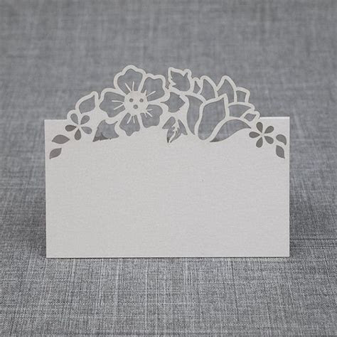Floral Pattern Arch Pop Up Place Card for Weddings and