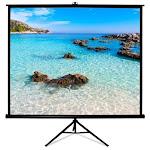 HamiltonBuhl TPS T96 Blk 96 x 96 in Square Format Projector Screen Black
