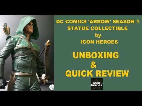 Icon Heroes 'ARROW' Season 1 collectible  Statue Unboxing & detailed specifications