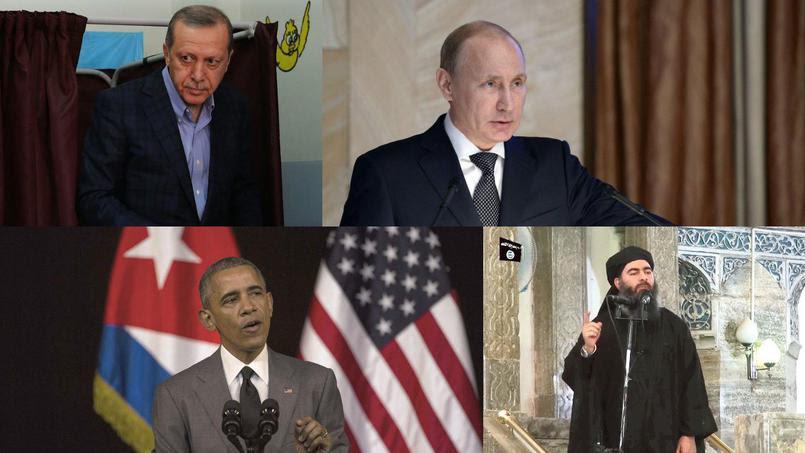 russie usa erdogan isis