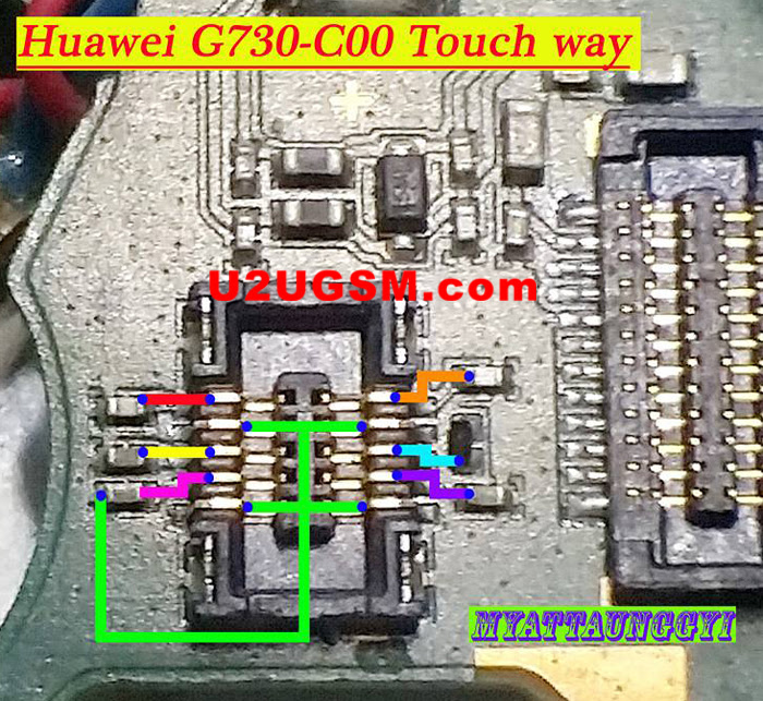 Huawei G730-C00 touch screen not working problem solution jumpers