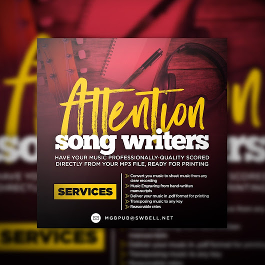 Songwriters have your music scored. | Gospel Clipboard Marketing
